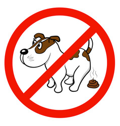 A sign that forbids walking with dogs vector