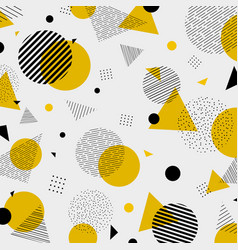 abstract colorful geometric yellow black colors vector image