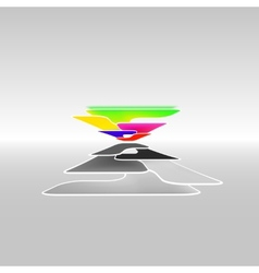 abstract high tech background vector image