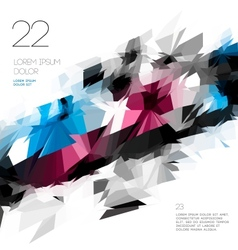 Abstract polygonal template design vector