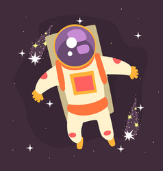 Astronaut floating through space vector