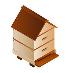 bee house icon isometric style vector image