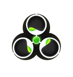 Biohazard research logo template vector