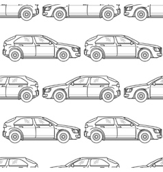 Black and white cars seamless pattern vector