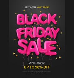 Black friday flat poster vector