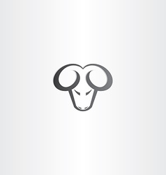 Black ram head icon vector