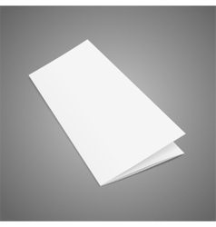 Blank Folded Leaflet White Paper Template vector