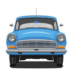 Blue vintage car vector