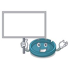 bring board ashtray character cartoon style vector image