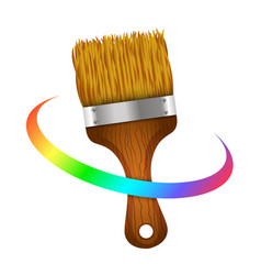 Brush for painting symbol vector