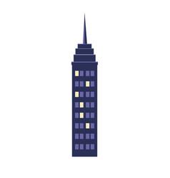 Building city night town windows light view vector
