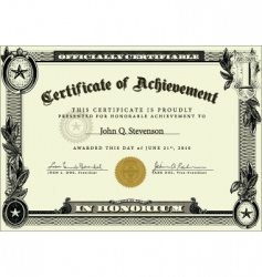 business certificate vector image