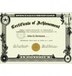 Business certificate vector