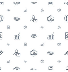 business icons pattern seamless white background vector image