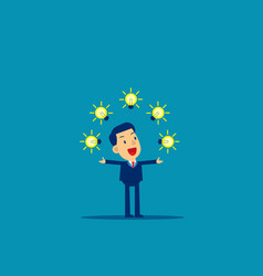 businessman show creative concept cute business vector image