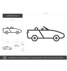 Cabriolet line icon vector