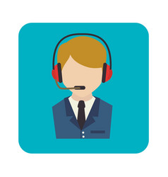 Call center agent service icon vector