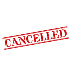 Cancelled stamp cancelled square grunge sign vector