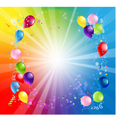 card bright holiday balloons vector image