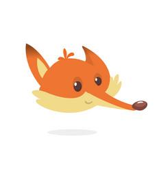 cartoon fox head icon vector image