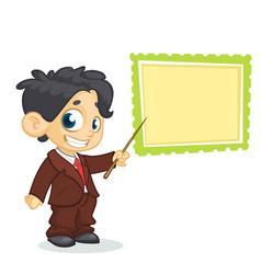 Cartoon young boy character i vector