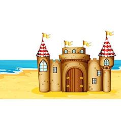 Castle on beach vector