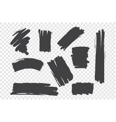chaotic brush strokes set vector image