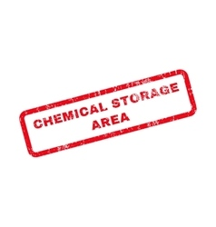 Chemical Storage Area Text Rubber Stamp vector image