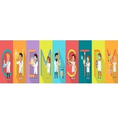 Chemistry Banner Science Alphabet vector image