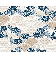 chrisantemum flower traditional kimono pattern vector image