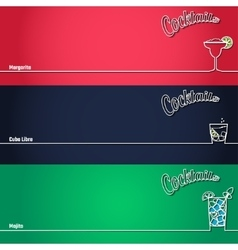 cocktail background outline 1 vector image