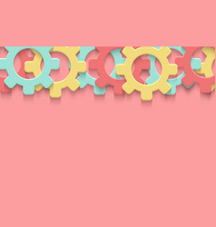 cogs gear colorful art background vector image