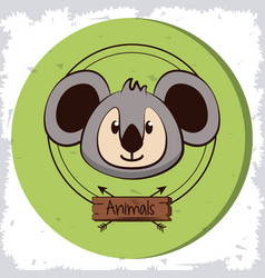 cute koala cartoon vector image