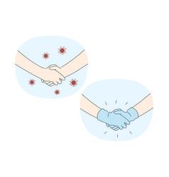 danger or coronavirus infection epidemic vector image