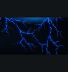 Dark sky with blue lightenings vector