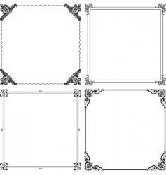elegant frames vector image