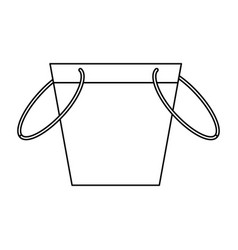 fishing bucket isolated vector image