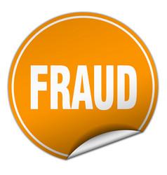 Fraud round orange sticker isolated on white vector
