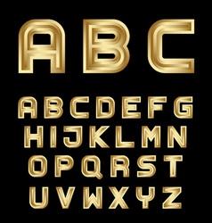Golden festive alphabet font letters vector