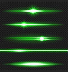green laser beams pack vector image