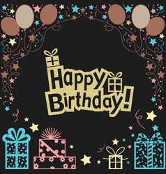 happy birthday background vector image