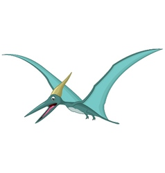 Happy pterodactyl cartoon vector