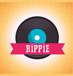 hippie retro style background vector image