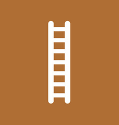 icon concept of wooden ladder on brown background vector image