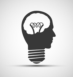 icons bulb of a human head vector image
