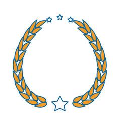 isolated yellow round icon symbol vector image