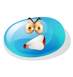 Jelly bean with angry face vector image