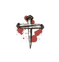 Jesus nails icon vector