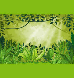jungle landscape vector image