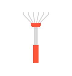 Lawn rake flat icon farming equipment vector